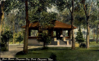 Rest House, Cheyenne City Park - Wyoming WY Postcard
