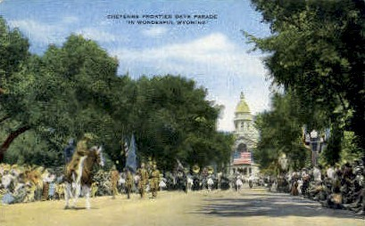 Frontier Day Parade - Cheyenne, Wyoming WY Postcard