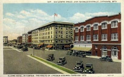Sixteenth St. - Cheyenne, Wyoming WY Postcard