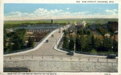 Viaduct - Cheyenne, Wyoming WY Postcard