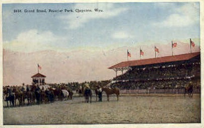 Grand Stand, Frontier Park - Cheyenne, Wyoming WY Postcard