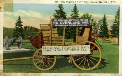 Stage Coach - Cheyenne, Wyoming WY Postcard