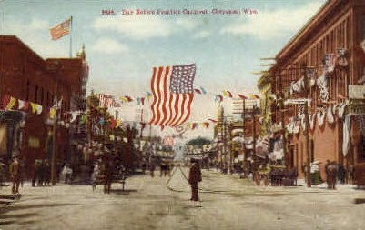 Day before Frontier Carnival - Cheyenne, Wyoming WY Postcard