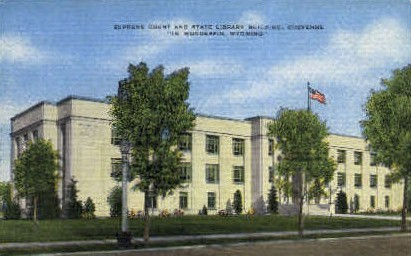 State Library Building - Cheyenne, Wyoming WY Postcard