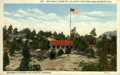 Boy Scout Lodge, Sherman Hill - Cheyenne, Wyoming WY Postcard