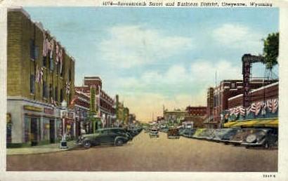 Seventeenth St. - Cheyenne, Wyoming WY Postcard
