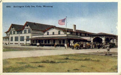 Burlington Cody Inn - Wyoming WY Postcard