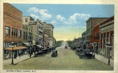 Second St. - Casper, Wyoming WY Postcard