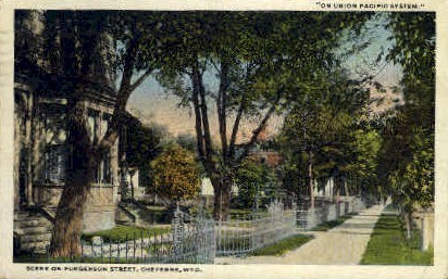 Furgerson St. - Cheyenne, Wyoming WY Postcard