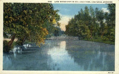Lake Minnehaha - Cheyenne, Wyoming WY Postcard