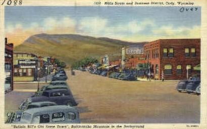 Main St. - Cody, Wyoming WY Postcard