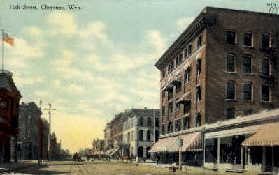 16th St. - Cheyenne, Wyoming WY Postcard