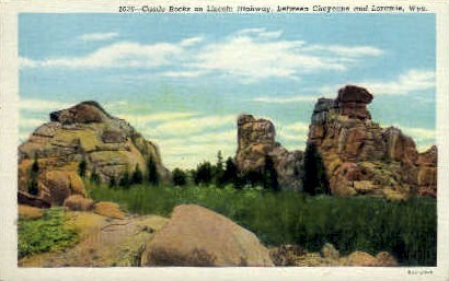 Castle Rocks - Cheyenne, Wyoming WY Postcard