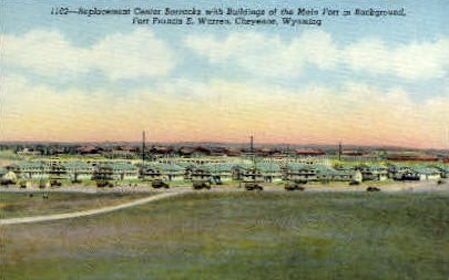 Replacement Center Barracks - Fort Francis E. Warren, Wyoming WY Postcard