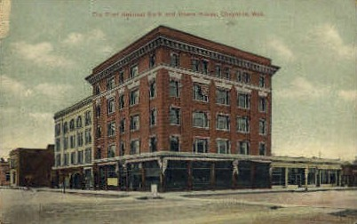 The First National Bank & Opera House - Cheyenne, Wyoming WY Postcard