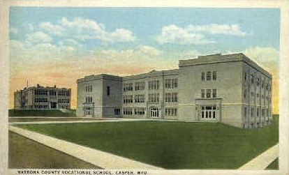 Natrona County Vocational School - Casper, Wyoming WY Postcard