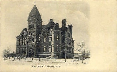 High School - Cheyenne, Wyoming WY Postcard