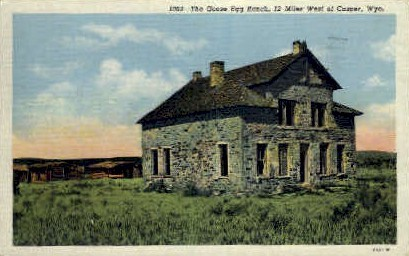 The Goose Egg Ranch - Casper, Wyoming WY Postcard