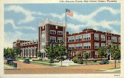 Natrona County High School - Casper, Wyoming WY Postcard