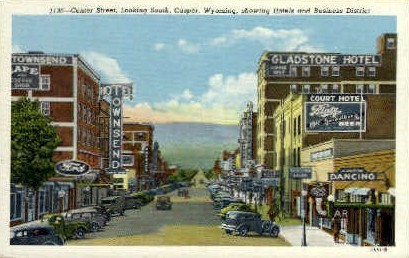 Center St. - Casper, Wyoming WY Postcard