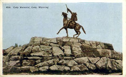 Cody Memorial  - Wyoming WY Postcard