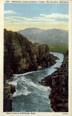 Pathfinder Canon - Rawlins, Wyoming WY Postcard