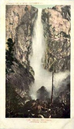 Bridal Veil Falls - Yosemite Valley, Wyoming WY Postcard