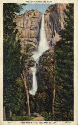 Yosemite Falls - Yosemite National Park, Wyoming WY Postcard