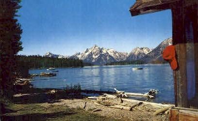 Jackson Lake & The Tetons - Jackson Hole, Wyoming WY Postcard