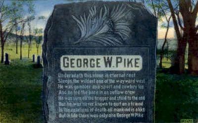 George W. Pike Monument - Douglas, Wyoming WY Postcard