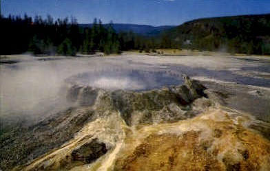 Punch Bowl Spring - Yellowstone National Park, Wyoming WY Postcard