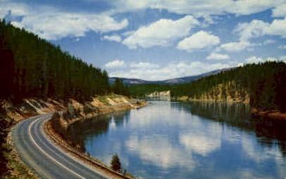 Yellowstone River - Yellowstone National Park, Wyoming WY Postcard