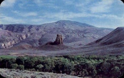 The Red Pillar - Big Horn Mountains, Wyoming WY Postcard