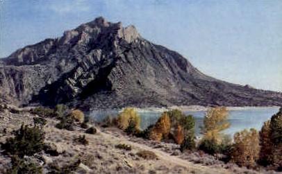 Cedar Mountain & Buffalo Bill Reservoir - Yellowstone National Park, Wyoming WY Postcard