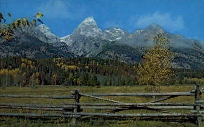 Autumn in the Tetons - Grand Teton National Park, Wyoming WY Postcard