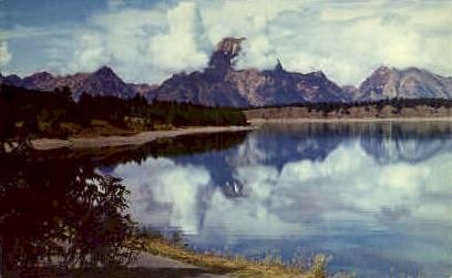 Jackson Lake, WY Postcard      ;      Jackson Lake, Wyoming