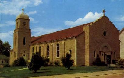 Corpus Christi Catholic Church - New Castle, Wyoming WY Postcard