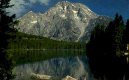 Mt. Moran & Leigh Lake - Grand Teton National Park, Wyoming WY Postcard