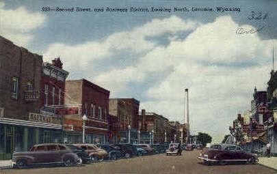 Second St. - Laramie, Wyoming WY Postcard