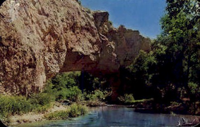 Natural Bridge - Ayres State Park, Wyoming WY Postcard