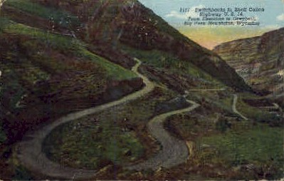 Switchbacks, Shell Canyon - Big Horn Mountains, Wyoming WY Postcard