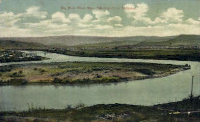 Big Horn River, Wyoming Postcard      ;      Big Horn River, WY
