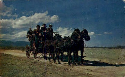 Old Stagecoach - Misc, Wyoming WY Postcard