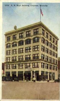 H.N. Boyd Building - Cheyenne, Wyoming WY Postcard