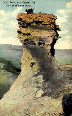 Castle Buttes - Colores, Wyoming WY Postcard