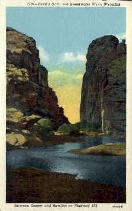 Devil's Gate & Sweetwater River - Casper, Wyoming WY Postcard