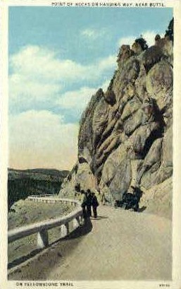 Point of Rocks - Butte, Wyoming WY Postcard