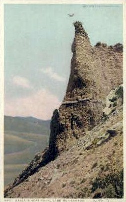 Eagle's Nest - Gardiner Canyon, Wyoming WY Postcard