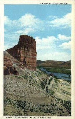 Butte - Green River, Wyoming WY Postcard