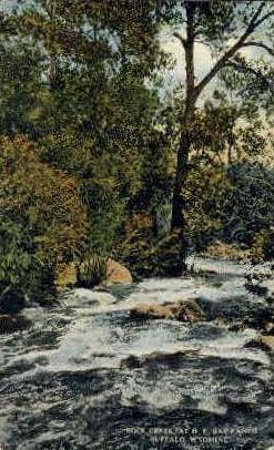 Rock Creek - Buffalo, Wyoming WY Postcard